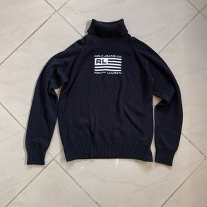 POLO Jeans Co Ralph Lauren Black Flag Sweater XL